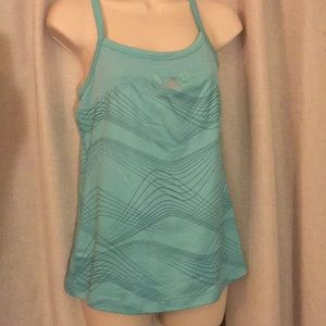 Adidas exercise tank with built in shelf bra